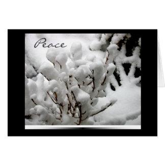 Navidad pacífico de las nevadas tarjeta pequeña
