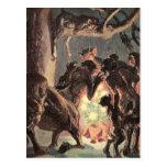 Navidad pagano tarjeta postal