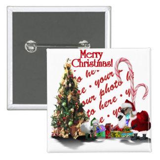Navidad palmído pin cuadrada 5 cm