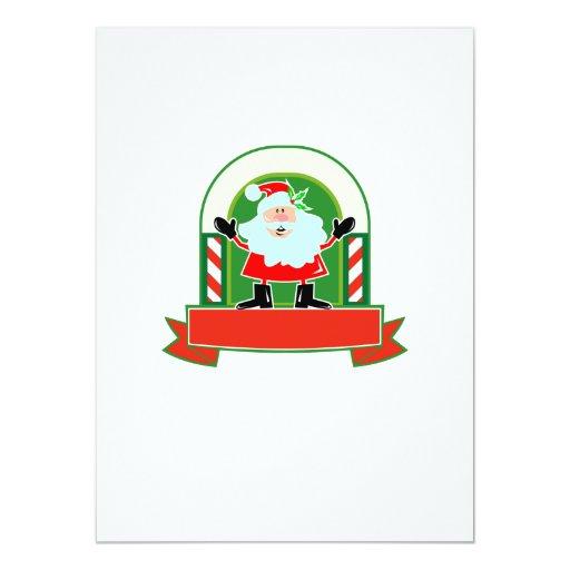 """Navidad Papá Noel del padre Invitación 5.5"""" X 7.5"""""""