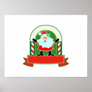 Navidad Papá Noel del padre Poster