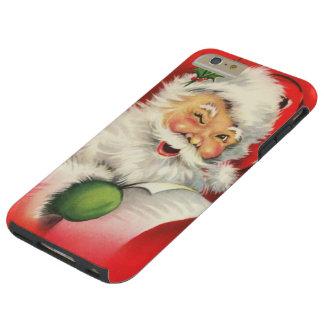 Navidad Papá Noel del vintage Funda De iPhone 6 Plus Tough