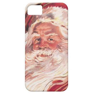 Navidad Papá Noel del vintage iPhone 5 Case-Mate Coberturas