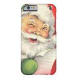 Navidad Papá Noel del vintage Funda Para iPhone 6 Barely There