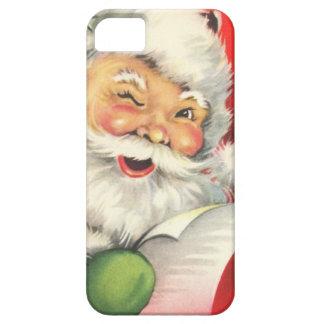 Navidad Papá Noel del vintage iPhone 5 Cárcasa