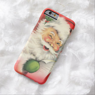 Navidad Papá Noel del vintage Funda De iPhone 6 Barely There