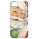 Navidad Papá Noel del vintage iPhone 5 Funda