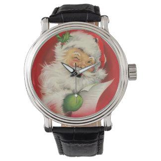 Navidad Papá Noel del vintage Reloj De Mano