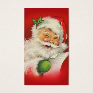 Navidad Papá Noel del vintage Tarjeta De Negocios