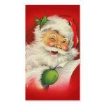 Navidad Papá Noel del vintage Tarjetas De Visita