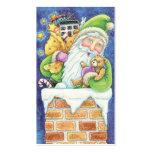 Navidad Papá Noel, nieve del dibujo animado de la Plantilla De Tarjeta De Visita