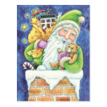 Navidad Papá Noel, nieve del dibujo animado de la Postales
