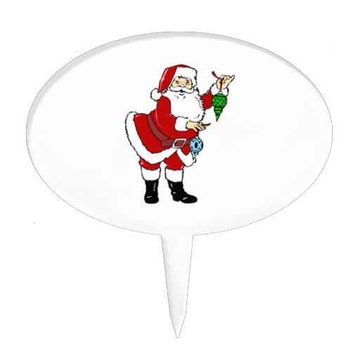 Navidad Papá Noel y ornamentos Decoraciones Para Tartas