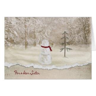 Navidad para la hermana tarjeta de felicitación