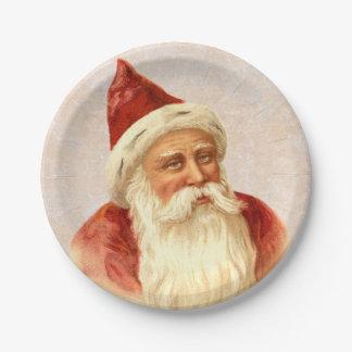 Navidad pasado de moda alemán de Papá Noel del Platos De Papel