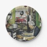 Navidad pasado de moda de la cocina del hogar del plato de papel 17,78 cm