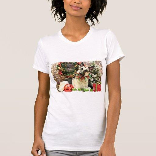 Navidad - pastor alemán - Reba Tshirt