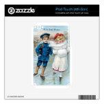 Navidad, patinaje de hielo de los niños iPod touch 4G skins