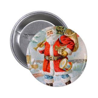 Navidad patriótico americano magnífico Santa Pin