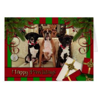 Navidad - Pawlidays feliz - boxeadores Felicitación