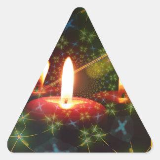 Navidad Calcomanías Triangulos Personalizadas