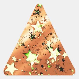 Navidad Pegatina De Triangulo Personalizadas