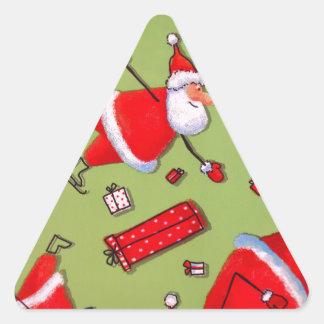 Navidad Calcomanía Triangulo