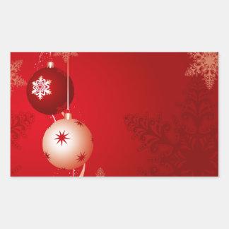Navidad Pegatina Rectangular
