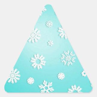 Navidad Calcomanías De Trianguloes Personalizadas