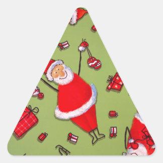 Navidad Colcomanias Trianguladas