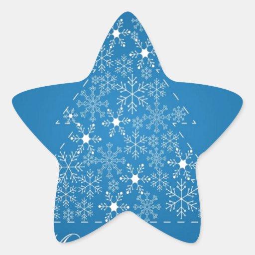 Navidad Pegatina En Forma De Estrella