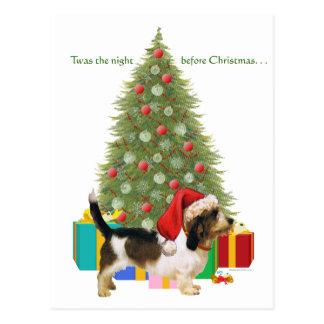 Navidad pequeno de Griffon Vendeen del Postales