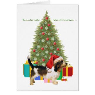 Navidad pequeno de Griffon Vendeen del Tarjeta De Felicitación