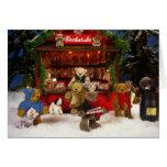 Navidad pequeño de los osos justo felicitacion