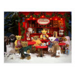 Navidad pequeño de los osos justo postales