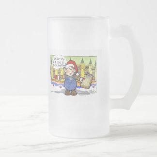 """Navidad """"pero no. 9 del sir"""" dibujo animado jarra de cerveza esmerilada"""