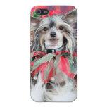 Navidad - perro con cresta chino - Sheeba iPhone 5 Coberturas