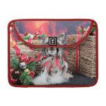 Navidad - perro con cresta chino - Sheeba Funda Para Macbook Pro