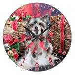 Navidad - perro con cresta chino - Sheeba Reloj