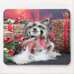 Navidad - perro con cresta chino - Sheeba Tapete De Raton
