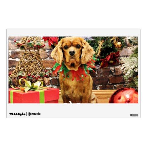 Navidad - perro de aguas de rey Charles arrogante