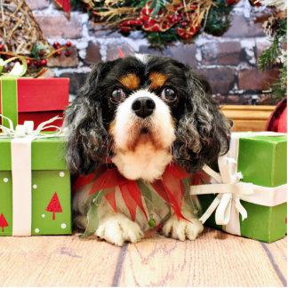 Navidad - perro de aguas de rey Charles arrogante Escultura Fotográfica