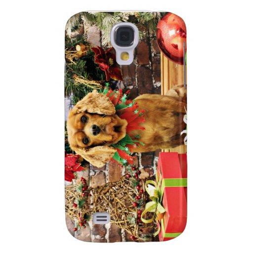 Navidad - perro de aguas de rey Charles arrogante  Funda Para Galaxy S4