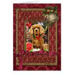 Navidad - perro de aguas de rey Charles arrogante Tarjeta De Felicitación