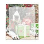 Navidad - perro de aguas de saltador inglés - Barn Bloc De Papel