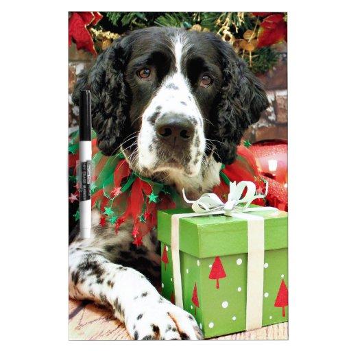 Navidad - perro de aguas de saltador inglés - Barn Pizarras Blancas De Calidad