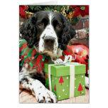 Navidad - perro de aguas de saltador inglés - Barn Felicitación