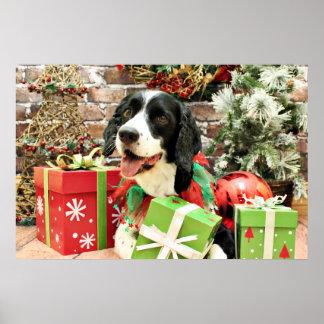 Navidad - perro de aguas de saltador inglés - Bets Poster