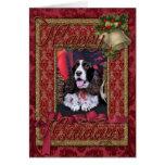 Navidad - perro de aguas de saltador inglés - Chlo Felicitaciones