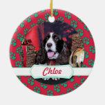 Navidad - perro de aguas de saltador inglés - ornamentos de reyes magos